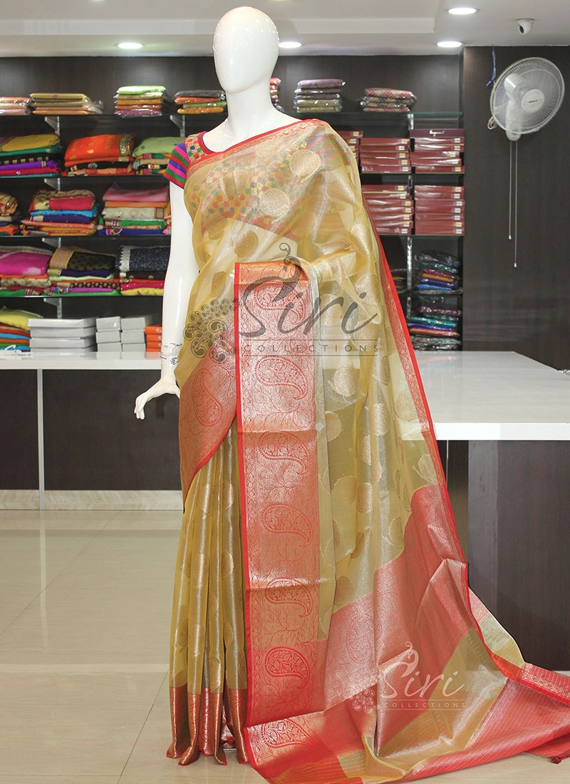 Lovely Fancy Tissue Saree