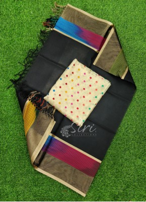 Lovely Kora Silk Dupatta with Soft Jute Tissue Top Fabric and No Bottom