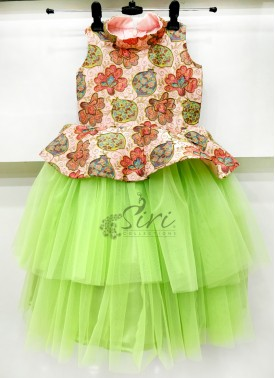 Lovely Layered Kids Frock for Two Year Old