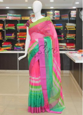Lovely Multi Colour Pure Kota Silk Saree