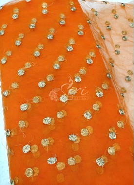 Lovely Net Fabric in Embroidery Work Butis Per Meter