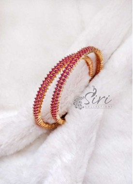 Lovely Pair of Bangles in Rubies