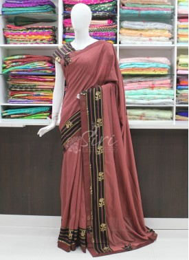 Lovely Partywear Designer Fancy Saree In Applique Work