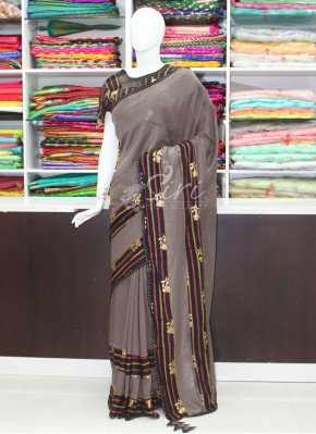 Lovely Partywear Fancy Saree In Designer Borders
