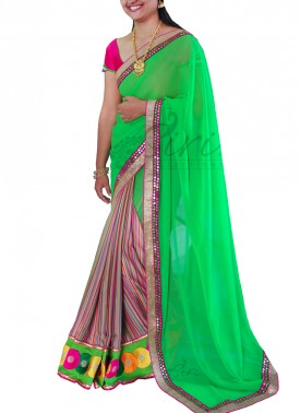 Lovely Patli Pallu Designer Saree in Cut Work Borders