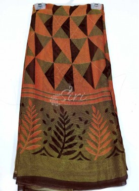 Lovely Printed Fancy Georgette Brasso Saree-
