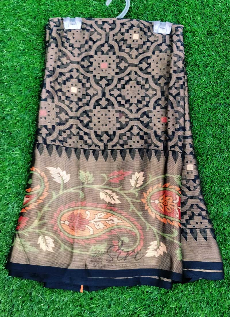 Lovely Printed Fancy Georgette Brasso Saree