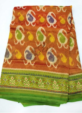 Lovely Soft Fancy Printed Tissue Kota Saree