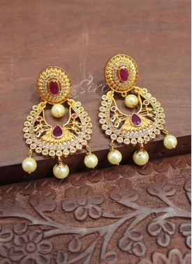 Matt Finish Chand Baali Earrings