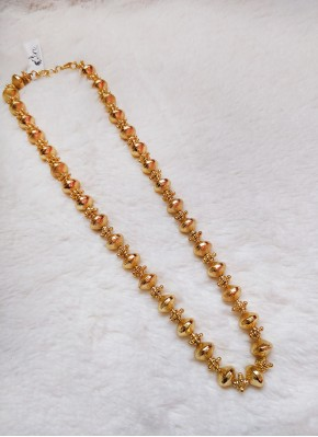 Micro Gold Polish Beads Chain Necklace