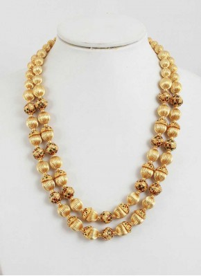 Micro Polish Gold Plated Balls Necklace Fashion Jewellery