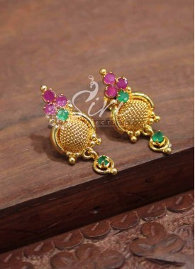 Micro Polish Gold Plated Earrings