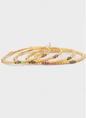 Micro Polish Gold Plated Set of Four Bangles