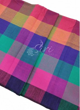 Multi Colour Checks Cotton Fabric per Meter