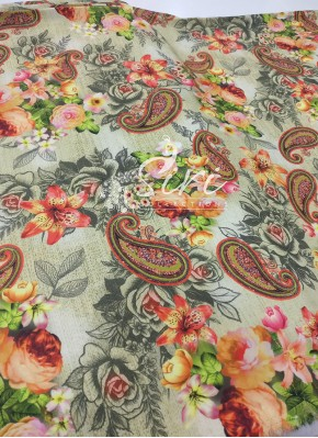 Multi Colour Digital Print Crepe Fabric Per Meter