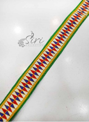 Multi Colour Fancy Border Lace