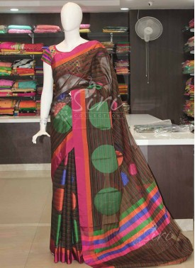 Multi Colour Fancy Cotton Silk Saree