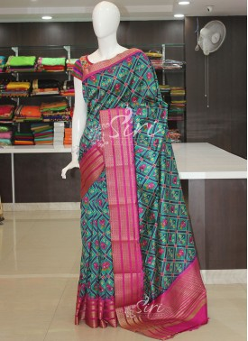 Multi Colour Patola Design Fancy Silk Saree