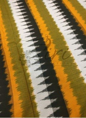 Multi Colour Special Design Ikat Cotton Fabric Per Meter
