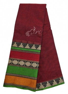 Narayanpet Mercerized Cotton Saree in Special Borders