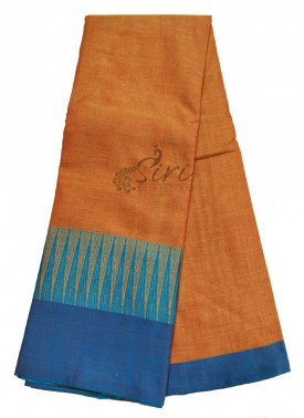 Narayanpet Mercerized Cotton Saree in Temple Design Borders