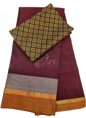 Narayanpet Mercerized Cotton Saree With Woven Blouse Fabric
