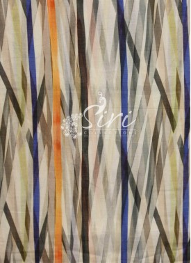 Offwhite Chanderi Seico Fabric in Digital Print by Meter