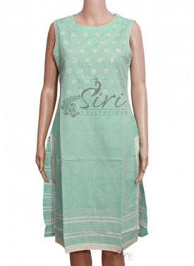 Pale Green Cotton Kurti
