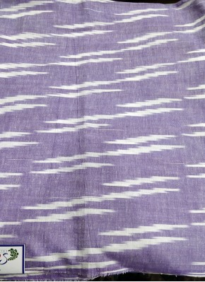 Pastel Lilac Ikat Cotton Fabric Per Meter