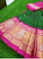 Beautiful Pure Kuppadam Pattu Saree in Kanchi Borders - 1