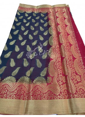Perfect Black Fancy Georgette Saree with Contrast Red Border