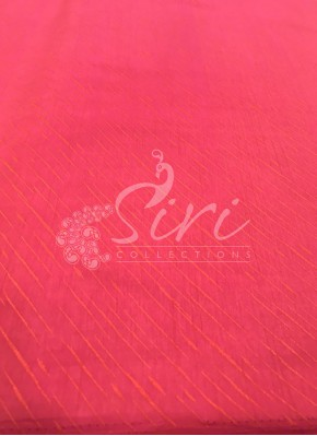 Pink Double Shade Soft Silk Fabric in Self Cross Lines Design Per Meter