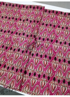 Pink Multicolour Manipuri Silk Fabric in Digital Print Fabric Per Meter