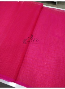 Pink Shaded Fancy Gunjan Self Weave Line Fabric Per Meter