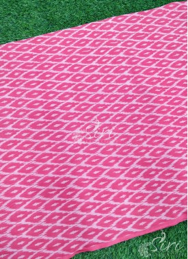 Pochampally Ikat Mercerized Cotton Fabric per Meter