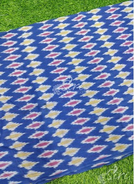 Pochampally Ikat Mercerized Cotton Fabric