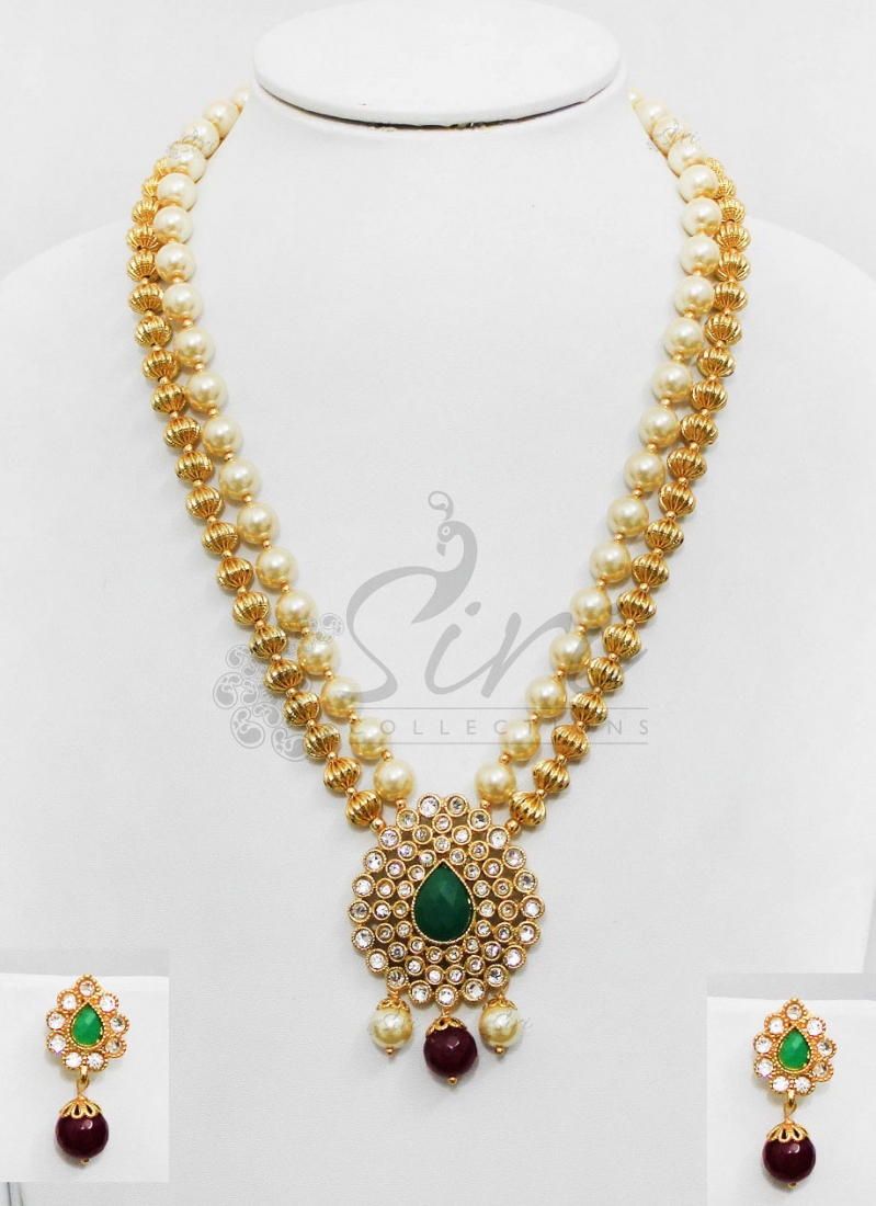 blue pearls in stone set online etashee pendant green india for women