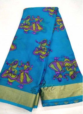 Printed Chiffon Saree with Jacquard Blouse Fabric