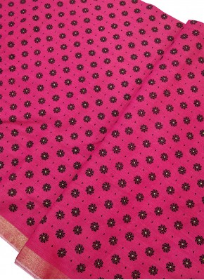Printed Fancy Chanderi Cotton Fabric Per Meter