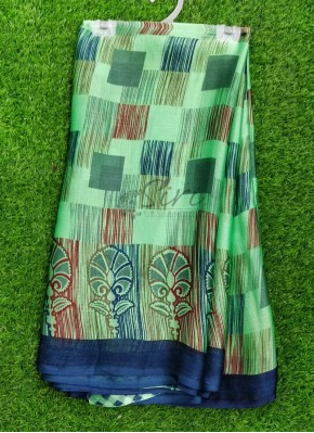 Printed Fancy Crepe Saree