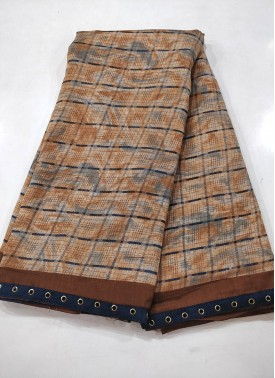 Printed Fancy Crepe Saree in Fancy Borders