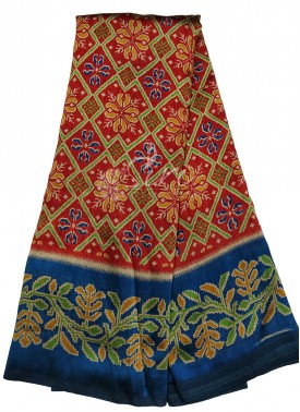 Printed Fancy Gumar Silk Saree