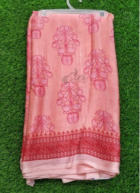 Printed Fancy Satin Chiffon Saree