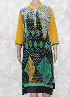 Printed Georgette Kurti with Lining
