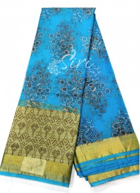 Printed Organza Saree
