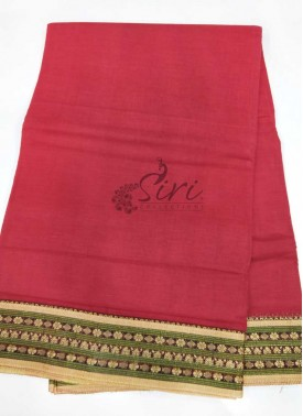 Pure Cotton Saree in Thread Borders