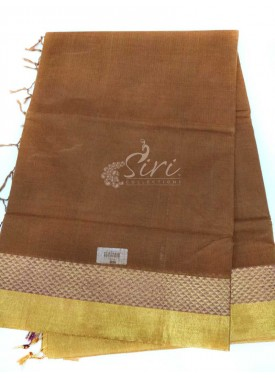 Pure Cotton Saree in Zari Borders