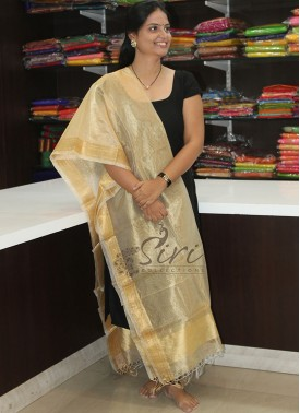Pure Gold Tissue Dupatta