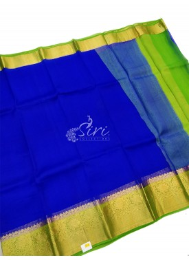 Pure Kora Plain Silk Saree in Kanchi Contrast Border