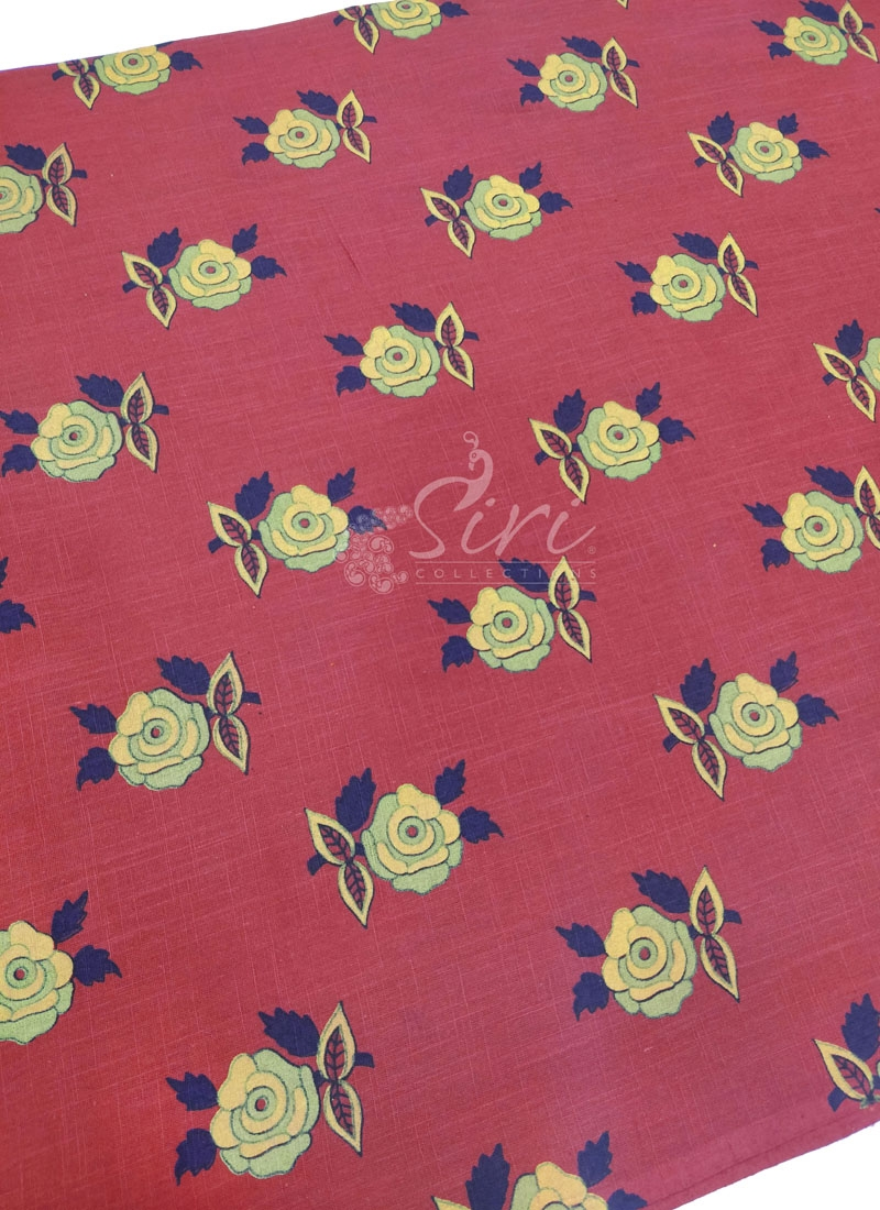 Pure Printed Cotton Fabric Per Meter